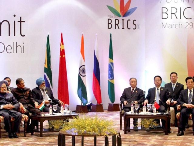 A-joint-bank-to-fund-infrastructure-and-development-in-Brazil-Russia-India-China-and-South-Africa-is-the-main-agenda-of-BRICS-2012-summit-in-New-Delhi