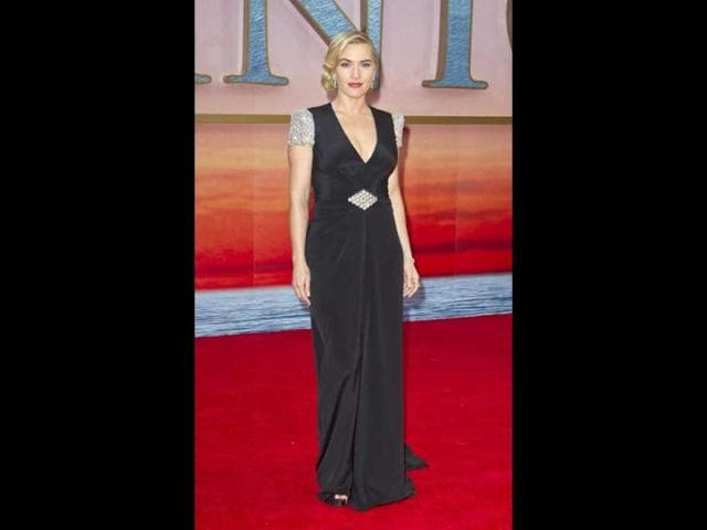 Kate Winslet looks stunning as she arrives at the Titanic 3D UK film premiere in London on March 27. (AP Photo)