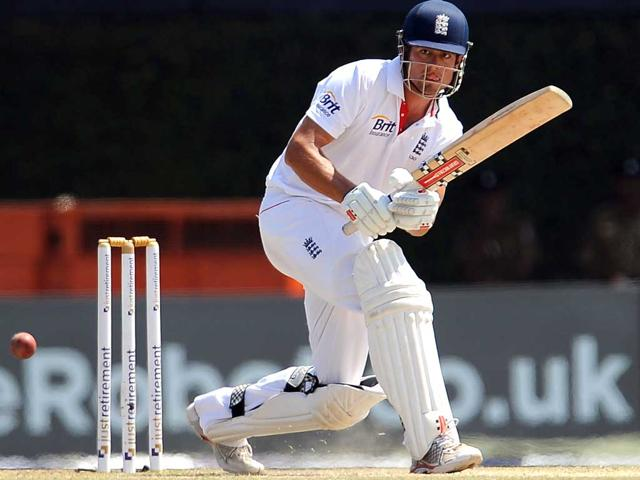 England-s-Alastair-Cook-plays-a-shot-during-the-third-day-of-the-second-and-final-Test-Match-between-Sri-Lanka-and-England-at-the-P-Sara-Oval-Cricket-Stadium-in-Colombo-AFP-Lakruwan-Wanniarachchi
