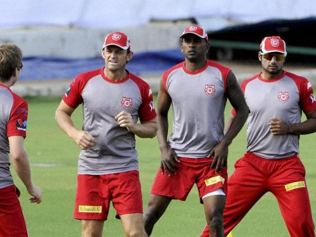 Kings-XI-Punjab-captain-Adam-Gilchrist-with-other-players-during-a-practice-session-in-Jaipur-PTI-photo