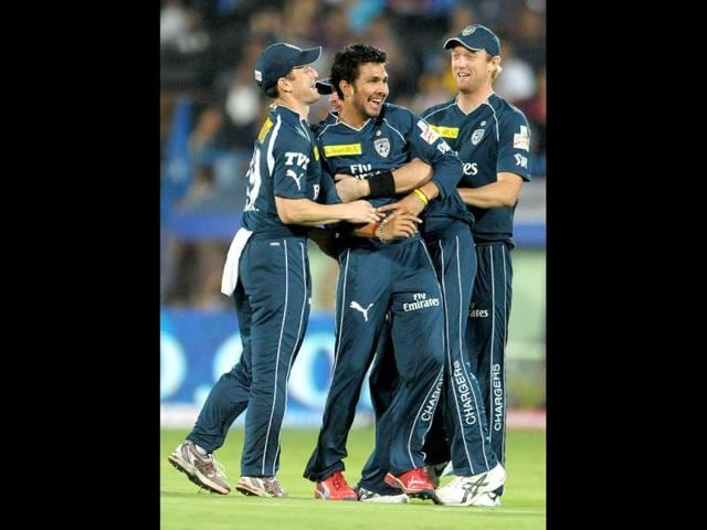 Deccan-Chargers-bowler-Ankit-Sharma-C-celebrates-the-wicket-of-unseen-Chennai-Super-Kings-batsman-Murali-Vijay-during-the-IPL-Twenty20-cricket-match-AFP