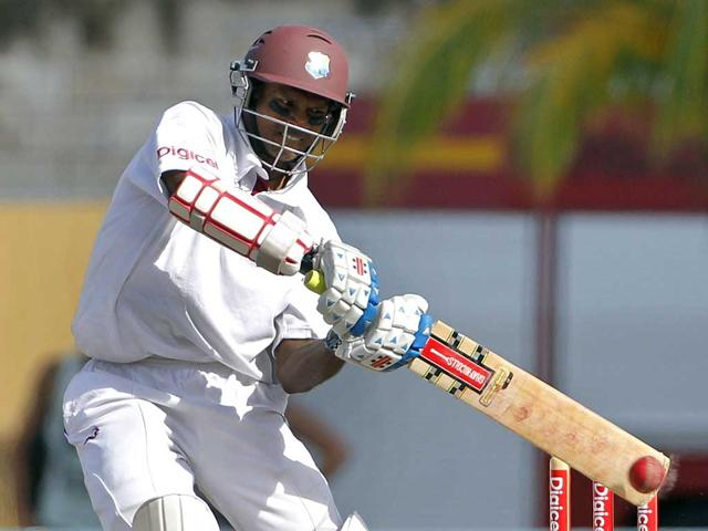 West-Indies-Shivnarine-Chanderpaul-plays-a-shot-on-his-way-to-score-a-century-during-the-second-day-of-the-first-cricket-Test-match-against-Australia-in-Bridgetown-Barbados-AP-Photo-Andres-Leighton