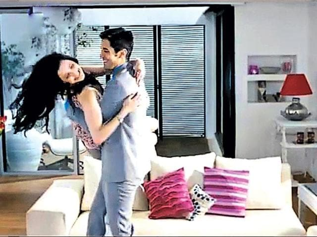 A-still-from-the-TV-commercial-for-a-whitening-hygiene-wash