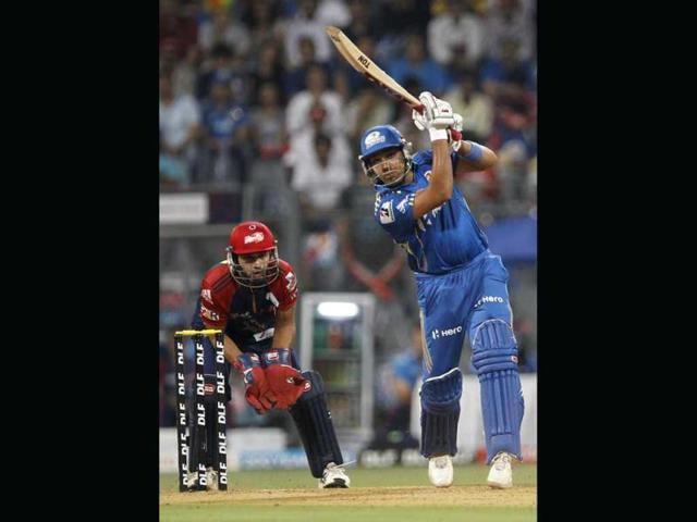Mumbai-Indians-batsman-Rohit-Sharma-in-action-during-the-IPL-T20-match-between-Mumbai-Indians-and-Delhi-Daredevils-at-Wankhede-Stadium-in-Mumbai-HT-Photo-by-Sattish-Bate