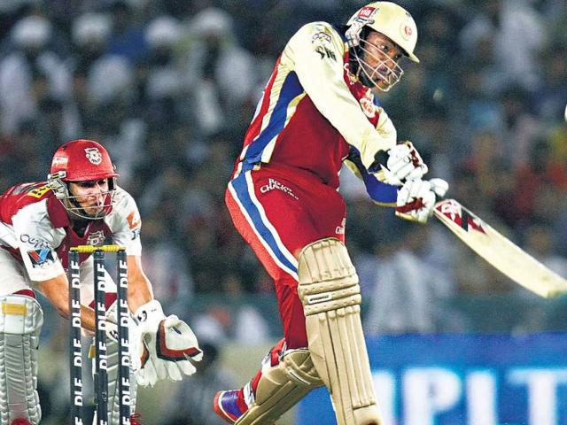 RCB-s-Chris-Gayle-on-way-to-his-87-against-the-Kings-XI-Punjab-in-Mohali-on-Friday-Gurpreet-Singh-HT-photo