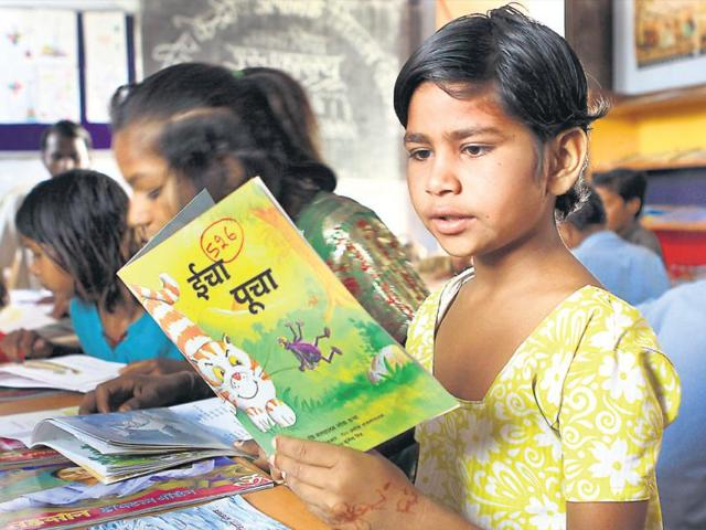 Out-in-the-open-Teachers-are-forced-to-conduct-classes-under-the-open-sky-at-Lucknow-s-Ambedkar-Seeksha-Niketan-due-to-shortage-of-classrooms--Deepak-Gupta-HT-photo