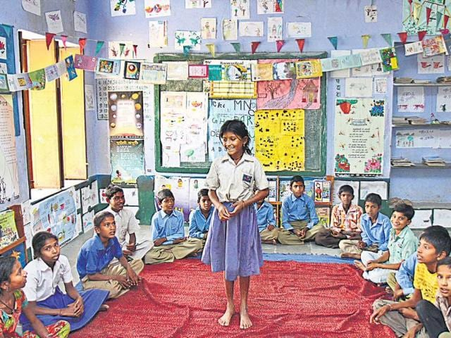 Towards-equality-Children-at-a-primary-school-in-Arward-in-Ajmer-district-of-Rajasthan-Vipin-Kumar-ht-photo