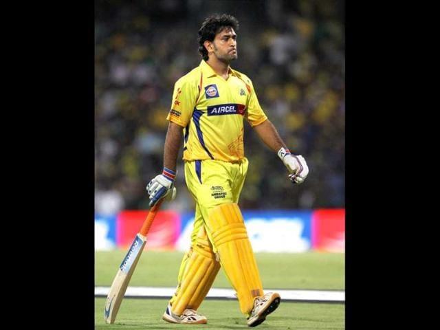 Chennai-Super-Kings-skipper-MS-Dhoni-walks-back-to-pavilion-after-losing-his-wicket-during-the-IPL-5-match-against-Kings-XI-Punjab-at-MAC-Stadium-in-Chennai-PTI-R-Senthil-Kumar
