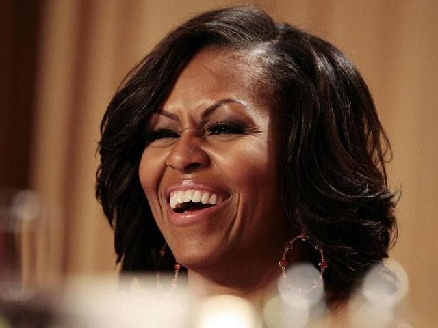 US-first-lady-Michelle-Obama-laughs-at-comedian-Jimmy-Kimmel-at-the-White-House-Correspondents-Association-annual-dinner-in-Washington-Reuters-Larry-Downing