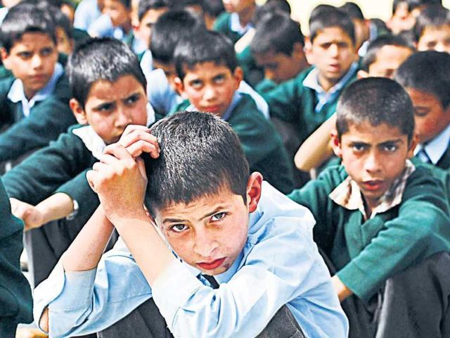This-school-for-orphans-was-started-by-a-group-of-retired-educationists-bureaucrats-and-professionals-with-15-students-in-2000-It-now-boasts-of-43-teachers-and-550-students-80-of-them-hostellers-HT-Waseem-Andrabi