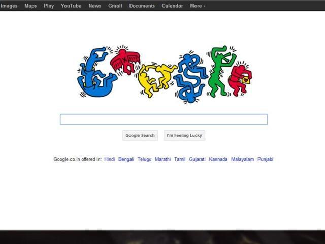 Keith Harring,google doodle,hindustan times