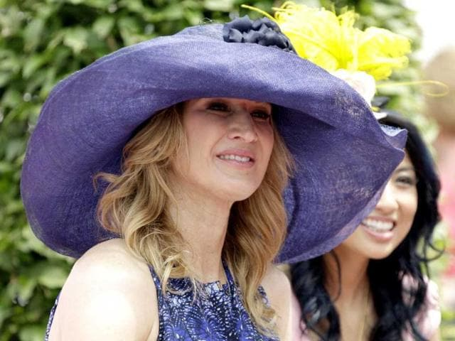 Former-tennis-player-Steffi-Graf-judges-a-fashion-contest-before-the-138th-running-of-the-Kentucky-Oaks-horse-race-at-Churchill-Downs-in-Louisville-Ky-AP-Photo-Mark-Humphrey