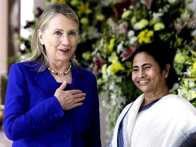 Mamata Banerjee,Hillary Clinton,Kolkata