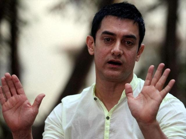 Bollywood actor Aamir Khan interacts with media in Mumbai on Sunday after good response of his television show Satyamev Jayate.(PTI)