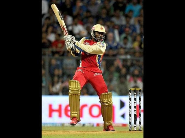 Royal-Challengers-Bangalore-batsman-Chris-Gayle-plays-a-shot-during-the-IPL-Twenty20-cricket-match-at-the-Wankhede-Stadium-in-Mumbai-AFP-Indranil-Mukherjee