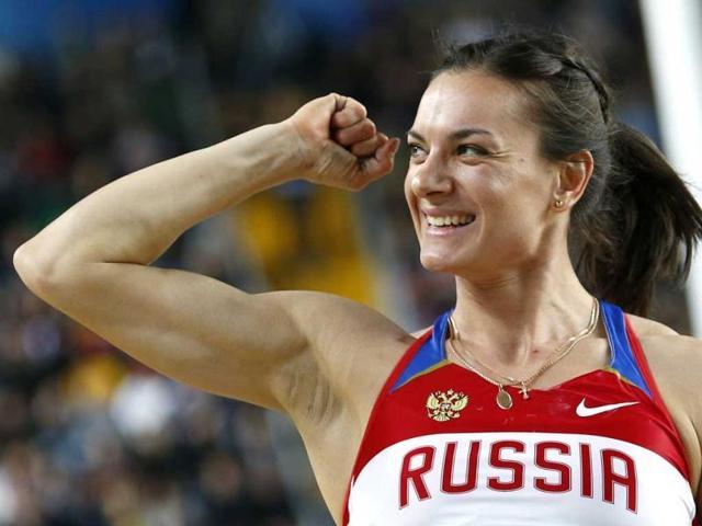 Yelena Isinbayeva,Olympic ambassador,President Jacques Rogge