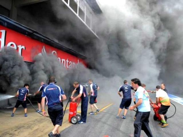 The-fire-that-broke-out-at-the-Williams-F1-team-s-garage-was-the-second-such-incident-this-year-AFP-Photo