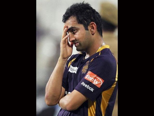 Dejected-looking-Kolkata-Knight-Riders-captain-Gautam-Gambhir-after-loosing-IPL-5-match-against-Chennai-Super-Kings-in-Kolkata-PTI-Photo-Swapan-Mahapatra
