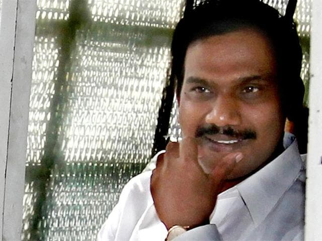 Former-telecom-minister-A-Raja-leaves-the-Patiala-House-court-in-New-Delhi-Raja-was-granted-bail-by-a-Delhi-court-in-the-2G-spectrum-case-PTI-file-photo