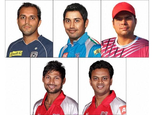File-photos-of-tainted-cricketers-clockwise-from-top-left-TP-Sudhindra-Mohnish-Mishra-Abhinav-Bali-Shalabh-Srivatsava-and-Amit-Yadav-who-were-suspended-by-from-all-forms-of-cricket-by-the-BCCI-All-the-players-are-accused-of-spot-fixing-PTI-Photo