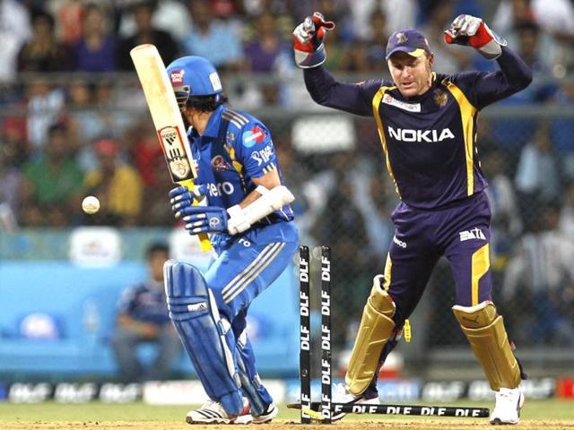 Mumbai-Indians-player-Sachin-Tendulkar-was-bowled-by-Kolkata-Knight-Riders-player-Sunil-Narinet-during-the-match-between-Mumbai-Indians-and-Kolkata-Knight-Riders-at-Wankhede-Stadium-HT-Photo-by-Kunal-Patil