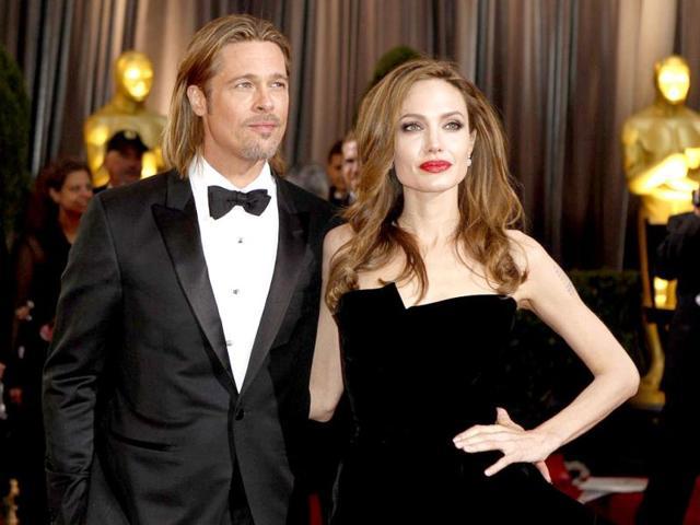 Angelina-Jolie-with-partner--Brad-Pitt