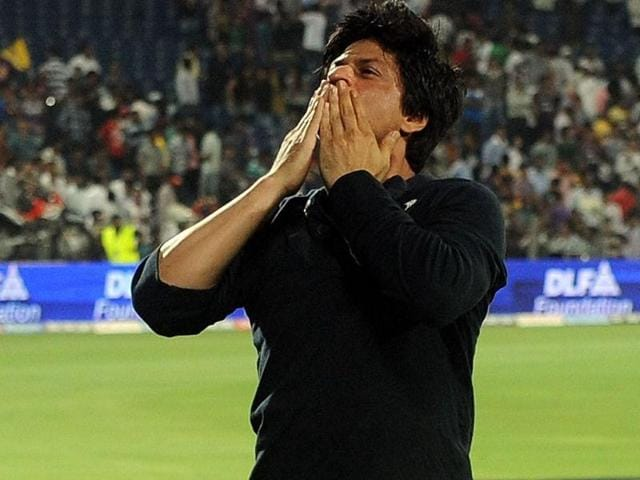 SRK is on cloud nine after the win.