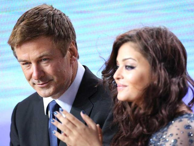 Aishwarya is seen here with Hollywood star Alec Baldwin.
