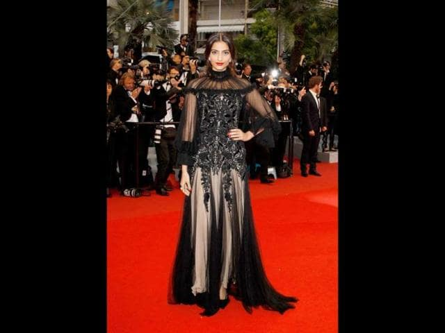 The 26-year-old actor wore a gothic black tulle gown by Alexander McQueen at the closing ceremony of the 65th Cannes International Film Festival and premiere of the film, Therese Desqueyroux.