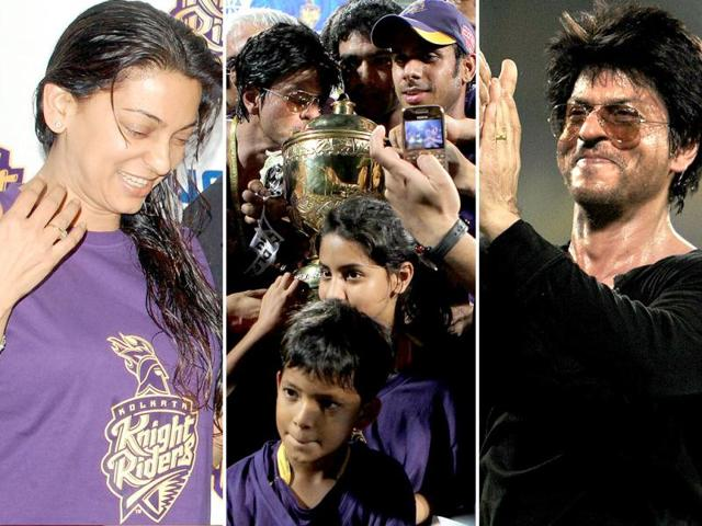 SRK and Juhi were on cloud nine after their team Kolkata Knight Riders won the IPL Twenty20 final match against Chennai Super Kings.