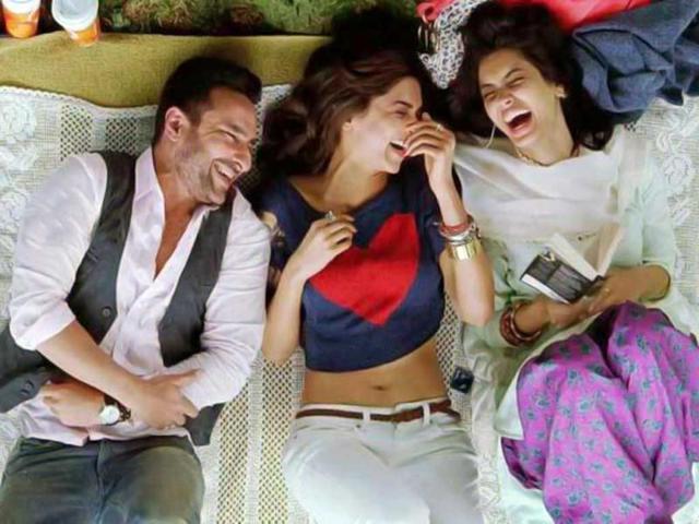 Deepika, Diana drag Saif to the party