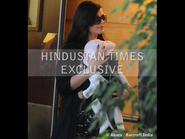 Aaradhya,Aishwarya Rai,Abhishek Bachchan