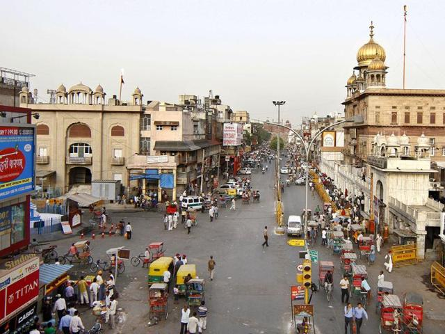 A-view-of-a-sparsely-occupied-Chandni-Chowk-area-due-to-the-nation-bandh-in-New-Delhi-HT-Photo-Sunil-Saxena