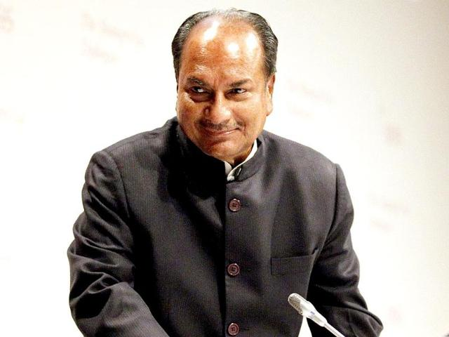 File-photo-of-defence-minister-AK-Antony-at-Palam-Airport--in-New-Delhi-HT-Arvind-Yadav