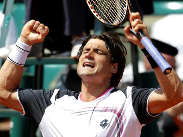 Spain-s-David-Ferrer-reacts-as-he-defeats-Russia-s-Mikhail-Youzhny-during-their-third-round-match-in-the-French-Open-tennis-tournament-at-the-Roland-Garros-stadium-in-Paris-AP-Bernat-Armangue
