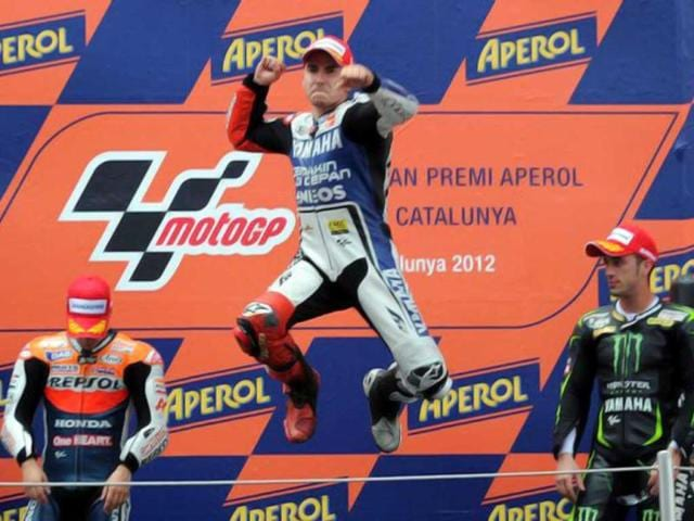 Jorge-Lorenzo-s-win-at-Catalunya-has-allowed-him-to-open-a-20-point-lead-on-defending-MotoGP-champion-Casey-Stoner-AFP-Photo