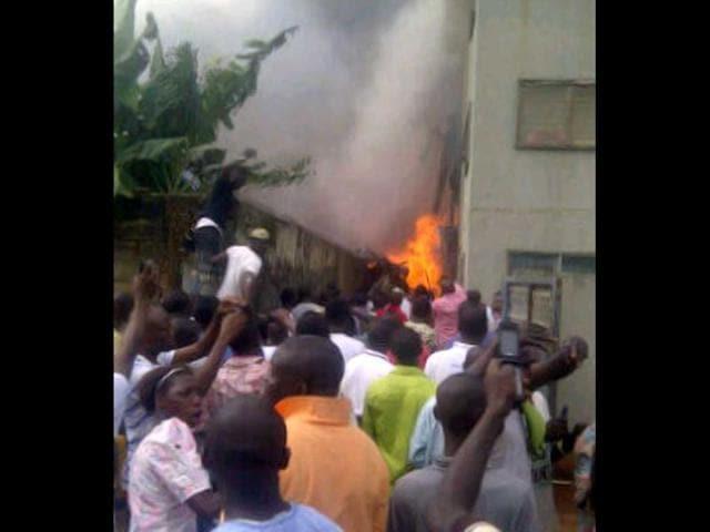Lagos plane crash,nigeria,Dana airline