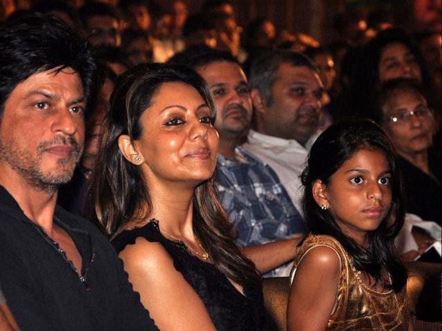 Shah Rukh Khan,Gauri Khan,Suhana Khan