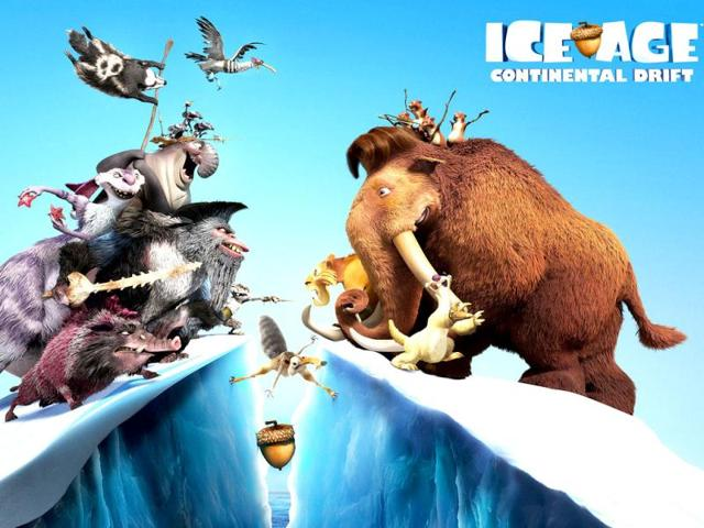 Ice-Age-Continental-DriftThe-fourth-installment-of-the-Ice-Age-series-Continental-Drift-will-see-the-return-of-Manny-Ray-Romano-Diego-Denis-Leary-and-Sid-John-Leguizamo-who-embark-upon-another-adventure-after-their-continent-is-set-adrift-Using-an-iceberg-as-a-ship-they-encounter-sea-creatures-and-battle-pirates-as-they-explore-a-new-world-Release-dates-July-13-worldwide