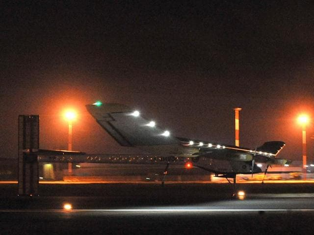 A-solar-plane-lands-at-Rabat-Sale-airport-The-Swiss-Solar-Impulse-flew-across-the-Strait-of-Gibraltar-from-Madrid-on-the-world-s-first-intercontinental-flight-in-a-plane-powered-by-the-sun-AFP-Photo