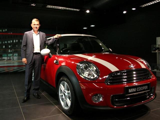 President, BMW Group India, Andreas Schaaf at the launch of Bird Automotive by MINI India. MINI India announced the opening of Bird Automotive, its first dealership in Delhi. The new Bird Automotive dealership is located at Vasant Kunj, New Delhi. (Photo by M ZHAZO / Hindustan Times)