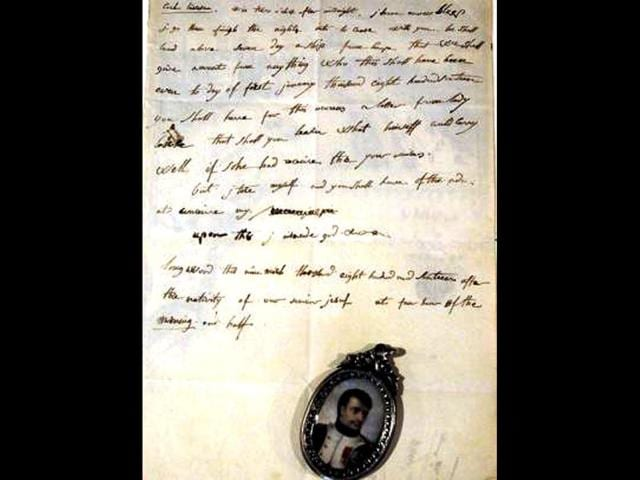 A-March-9-1816-letter-written-by-French-emperor-Napoleon-the-1st-is-presented-in-Fontainebleau-South-of-Paris-PHOTO-AP