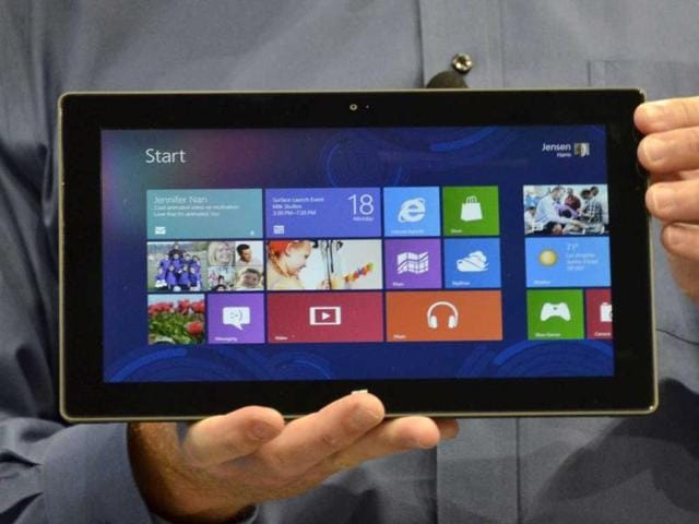 Microsoft-s-Executive-Officer-Steve-Ballmer-introduces-Microsoft-s-new-tablet-surface-during-the-press-conference-in-Milky-Studios-on-June-18-2012-in-Hollywood-California-AFP-Photo-Joe-Klamar