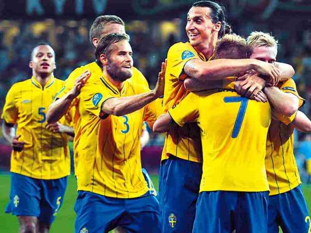 Sweden-players-celebrate-Sebastian-Larsson-s-goal-against-France-on-Tuesday-AFP-Photo