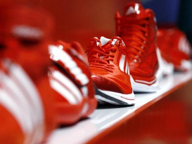 Adidas-sport-shoes-Adizero-are-on-display-at-the-Adidas-innovation-laboratory-in-Herzogenaurach-US-market-leader-Nike-and-German-rival-Adidas-are-locked-in-their-own-Olympic-battle-to-boost-athletes-performance-and-squeeze-maximum-value-out-of-the-London-Olympic-Games-Reuters-Michael-Dalder