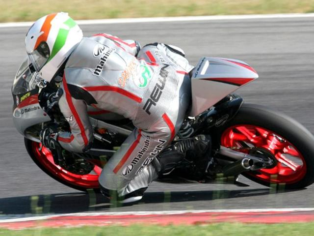Team-Mahindra-Racing-s-Sarath-Kumar-finished-eighth-in-the-first-of-two-races-of-the-CIV-Italia