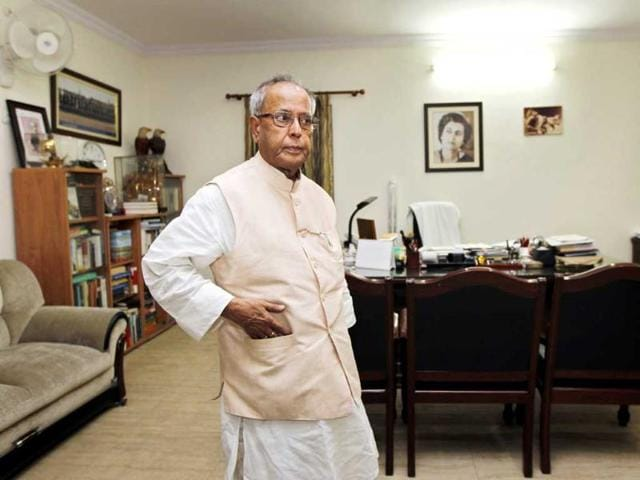 UPA-Presidential-candidate-Pranab-Mukherjee-relaxes-in-his-Delhi-home-HT-Ajay-Aggarwal