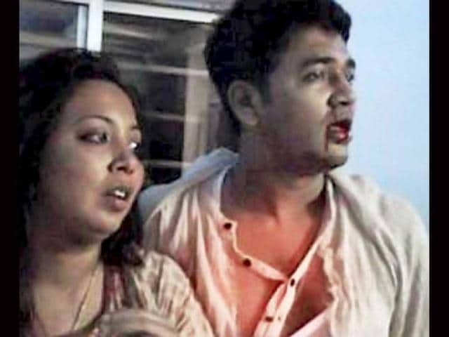 A-video-grab-of-Congress-MLA-Rumi-Nath-and-her-second-husband-Jaki-Jakir-who-were-beaten-up-and-injured-by-a-mob-at-Karimganj-town-in-Assam-PTI-Photo