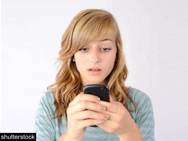 A-young-girl-texting