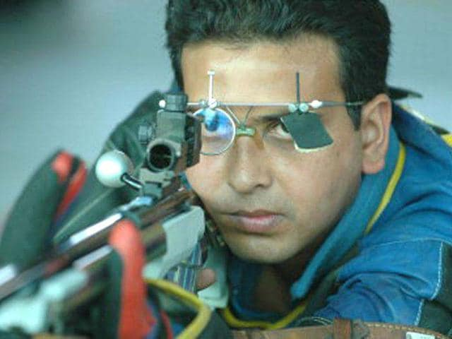 Joydeep-Karmakar-50m-Rifle-Prone-The-33-year-old-shooter-hails-form-West-Bengal-He-got-the-quota-place-against-the-berth-won-by-Hariom-Singh-who-won-it-by-finishing-sixth-in-the-world-championship-held-in-Munich-Germany-in-2010